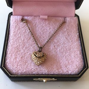 Gold Juicy Couture heart necklace